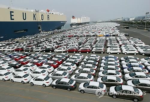 韩2017年第一季乘用车出口下滑2.7%