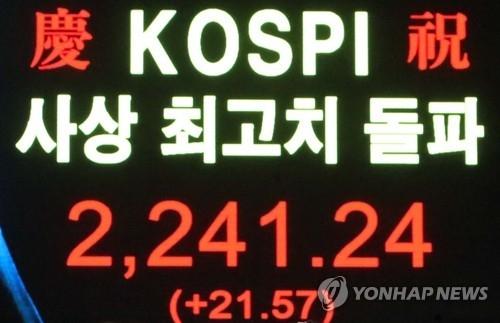 韩KOSPI时隔6年再创新高 - 1
