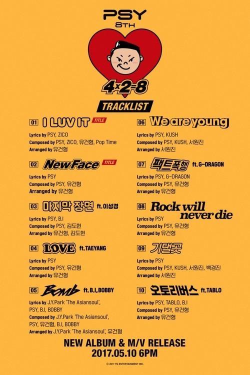 鸟叔8辑歌单(YG娱乐提供)