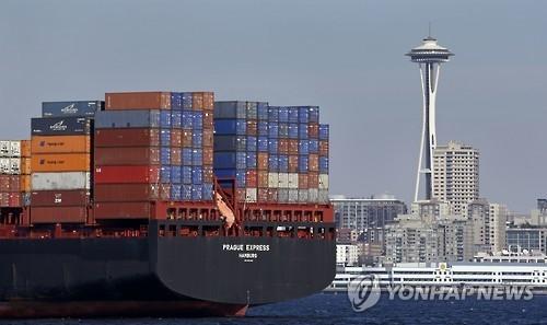资料图片:美国港口(韩联社)