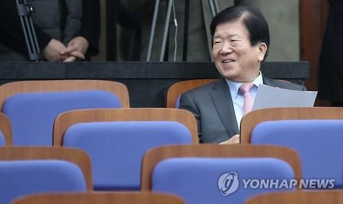 资料图片:共同民主党议员朴炳锡(韩联社)