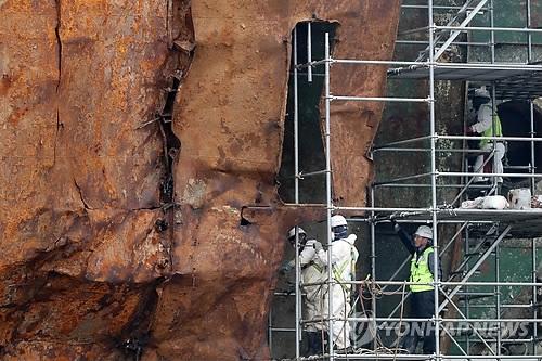 世越号船体内发现大量疑似失踪者遗骨