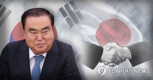 韩国总统文在寅派往日本的特使、前国会副议长文喜相(韩联社)