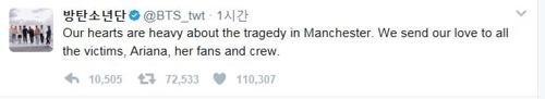 防弹少年团推特截图