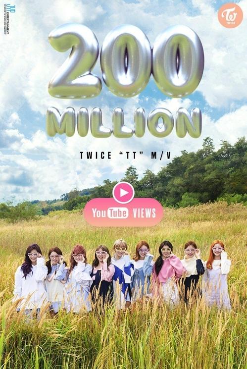 TWICE《TT》YouTube点击量破2亿(JYP提供)