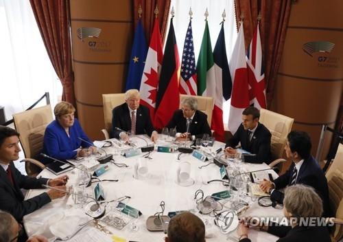 图为G7峰会现场(韩联社/美联社)