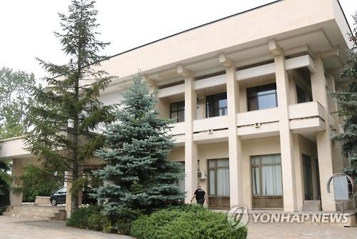 资料图片:原朝鲜驻保加利亚使馆(韩联社)