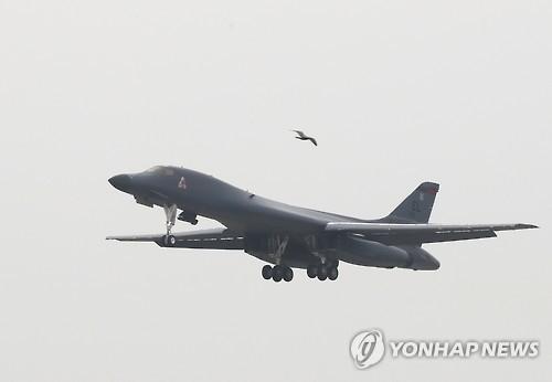 美国B-1B战略轰炸机(韩联社)