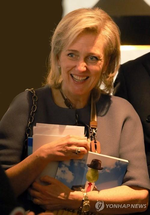 资料图片:比利时公主阿斯特丽德(韩联社/比利时驻韩大使馆提供)