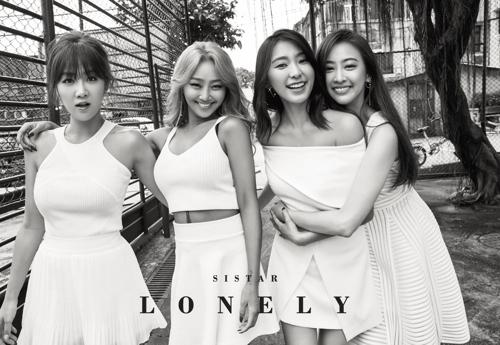 女团SISTAR单曲《LONELY》预告照(韩联社/SISTAR经纪公司提供)