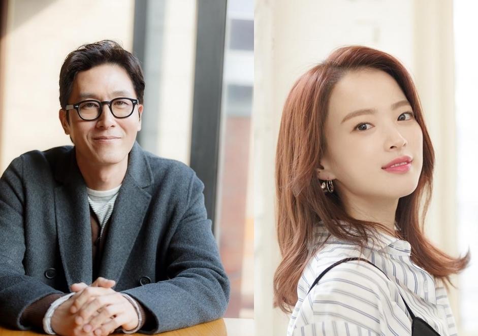 演员金柱赫(左)和千玗嬉(韩联社)
