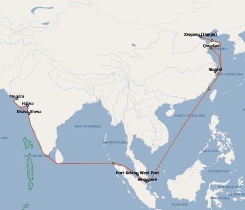 现代商船将启动中国北部至印度集装箱海运服务 - 1