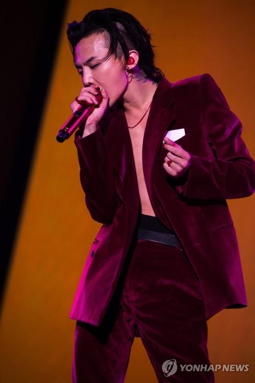 资料图片:男团BIGBANG成员权志龙(韩联社)