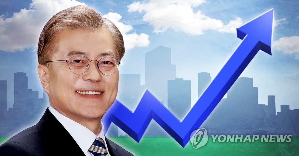民调:逾八成韩国民众对文在寅施政给予积极评价 - 1