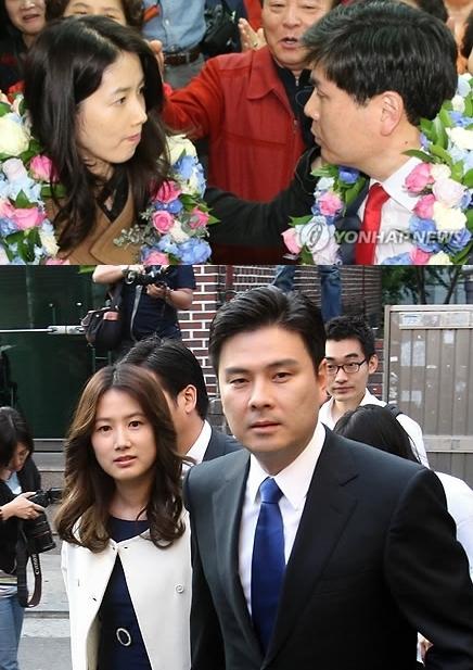 资料图片:沈银河(左)与池尚昱(韩联社)