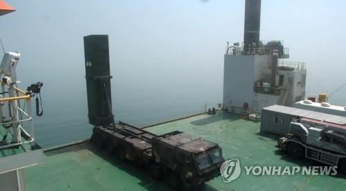 """""""玄武-2C""""导弹移动发射车(韩联社)"""