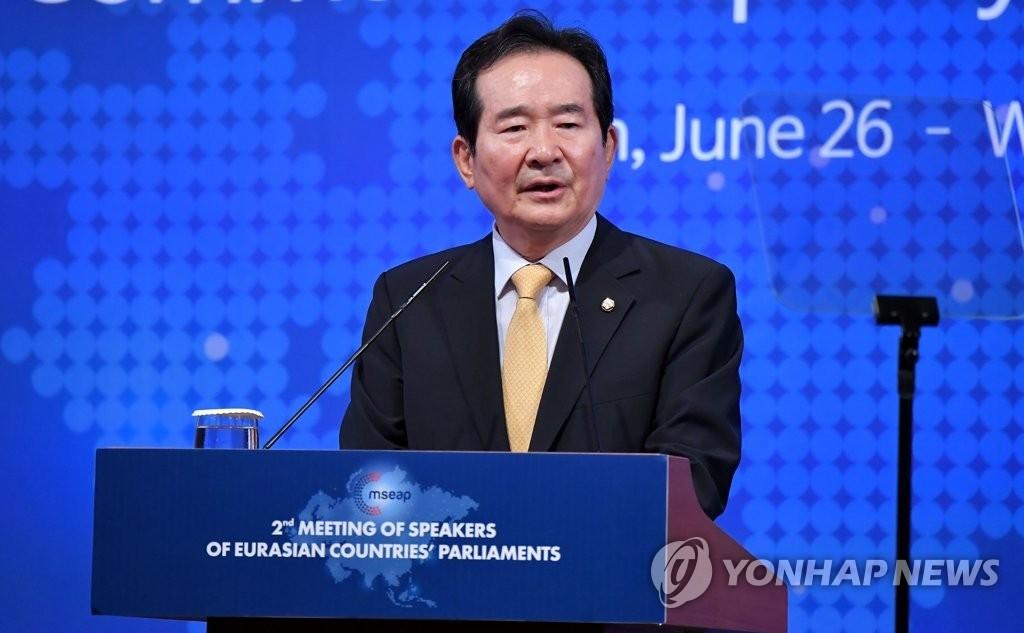 韩国国会议长:力促韩朝国会议长会议成行