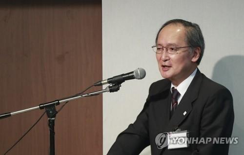 6月27日,在延世大学同门会馆,长岭安政在政策研究论坛上发表演讲。(韩联社)