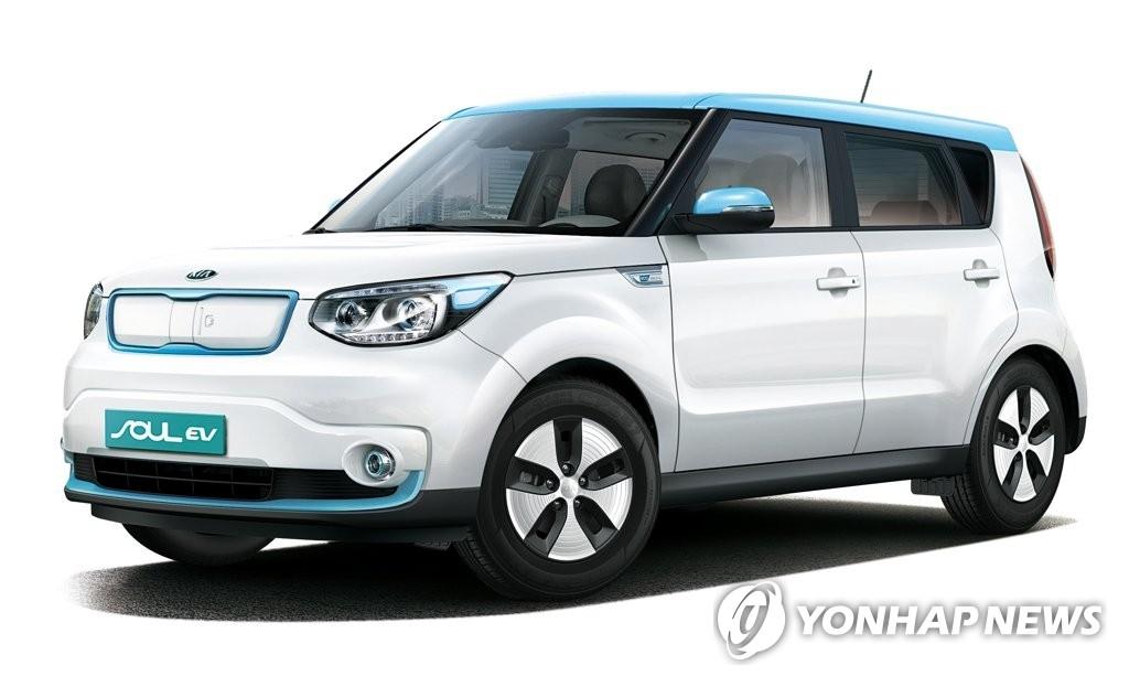 起亚2018年版秀尔EV(韩联社)