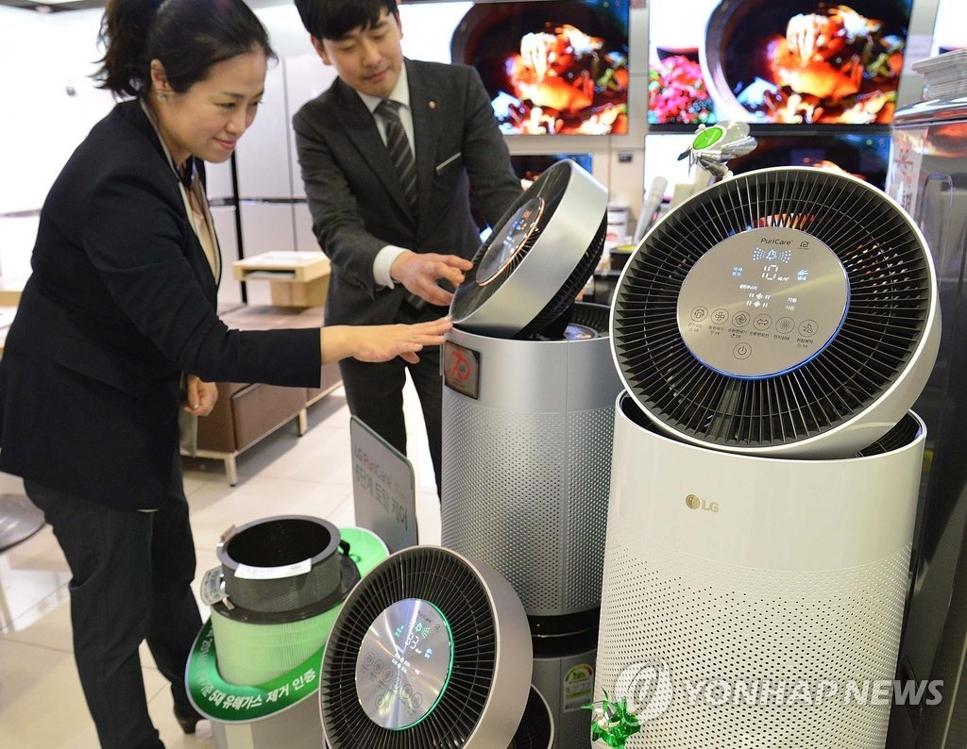 韩2016年空气净化器出口同比增47% - 1