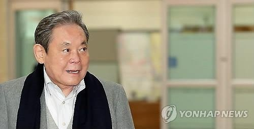 资料图片:三星会长李健熙(韩联社)
