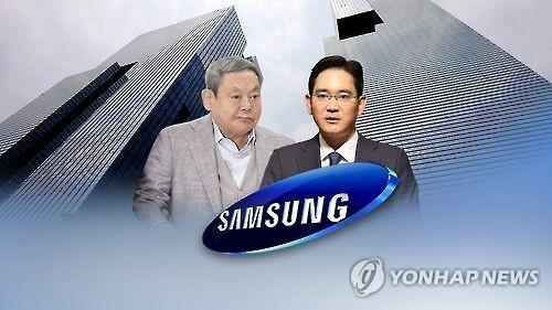 资料图片:李健熙(左)和李在镕(韩联社)