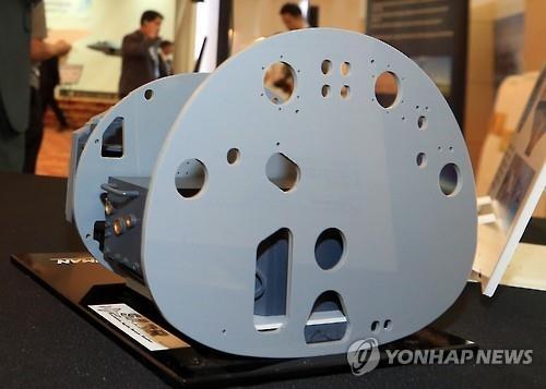 资料图片:AESA雷达(韩联社)