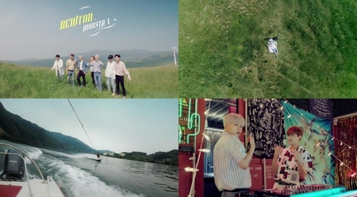 男团MONSTA X新曲《NEWTON》预告视频(韩联社/Starship娱乐提供)