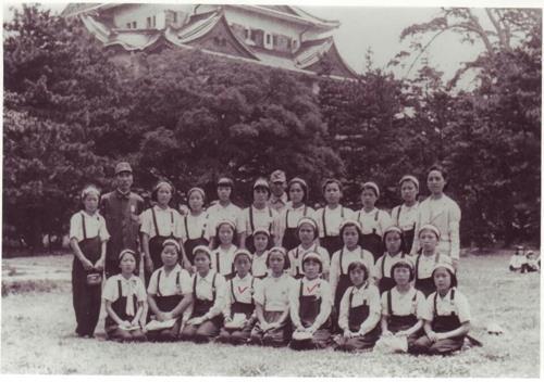 被三菱强征劳役的少女们 (韩联社/韩国公民团体提供)