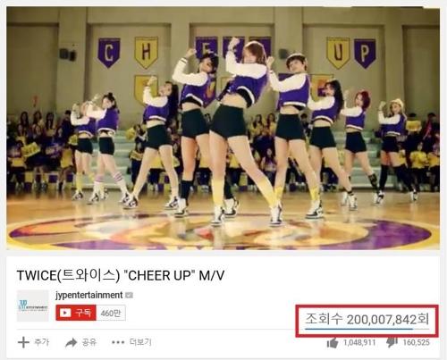 资料图片:TWICE热曲《CHEER UP》MV画面截图(韩联社/JYP提供)