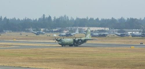韩国空军运输机C-130H(韩联社)