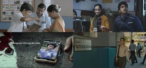 """三星电子在印度推出的呼吁安全驾驶的公益广告""""Safe India""""(韩联社/第一企划提供)"""