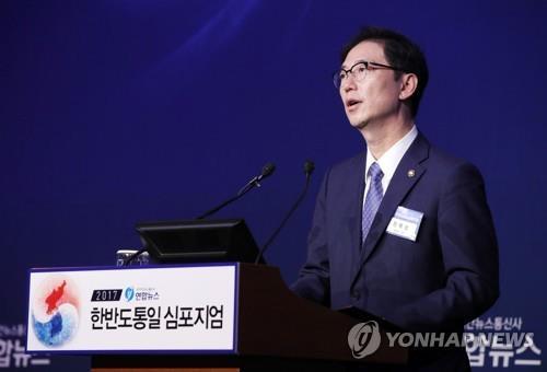 资料图片:韩国统一部次官千海成(韩联社)