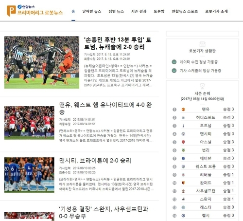 Soccerbot网页截图