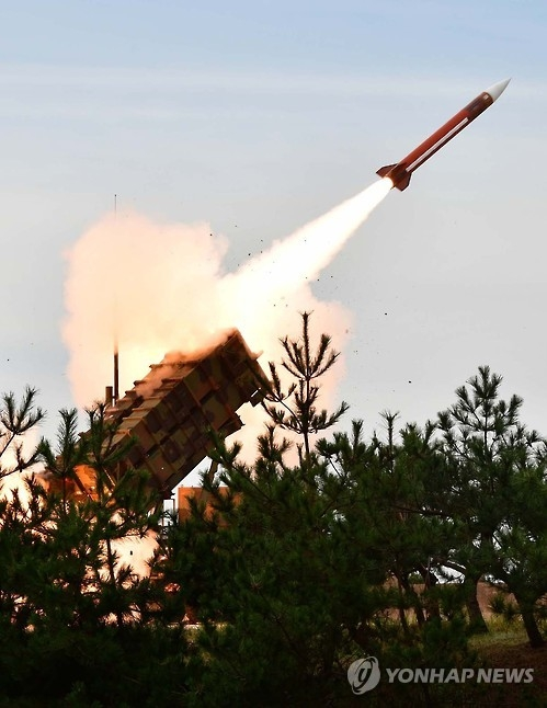 资料图片:韩军爱国者导弹(韩联社)