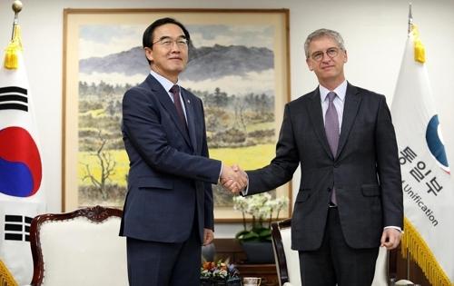 韩统一部长官会见荷兰大使讨论脱北者问题