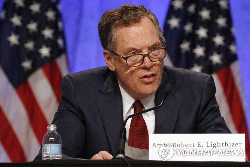 美国贸易代表罗伯特·莱特希泽(韩联社)