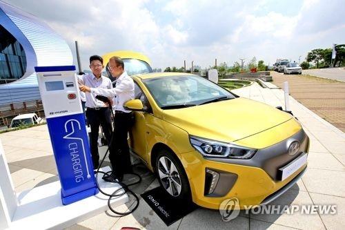 现代IONIQ Electric(电动车)(韩联社)