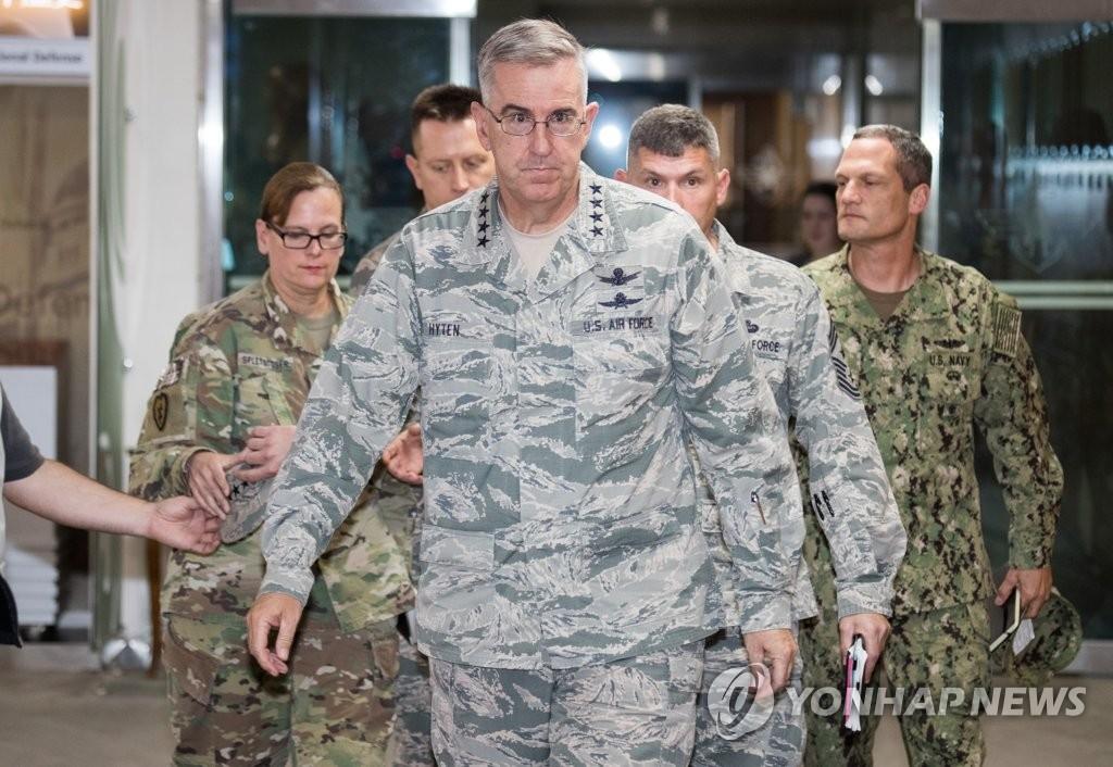 美国战略司令部司令海顿(韩联社/联合摄影组)