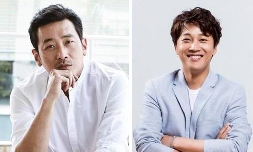 资料图片:河正宇(左)和车太贤(韩联社)