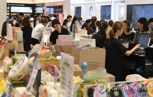 韩免税店外国顾客大减销售反增 或因代购扫货 - 1