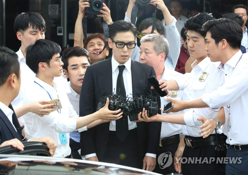 资料图片:BIGBANG成员崔胜铉(韩联社)