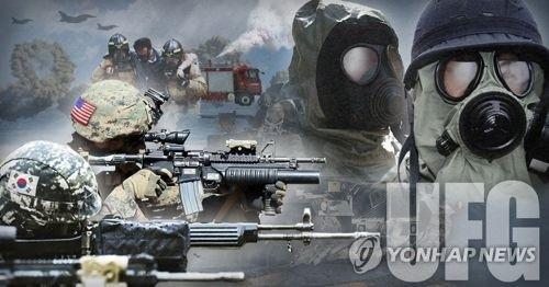 """韩美""""乙支自由卫士""""联合军演今结束 - 1"""