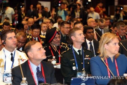 9月7日,各国代表出席首尔安全对话。(韩联社)