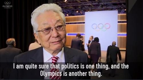 """张雄接受""""奥林匹克频道""""采访截图"""
