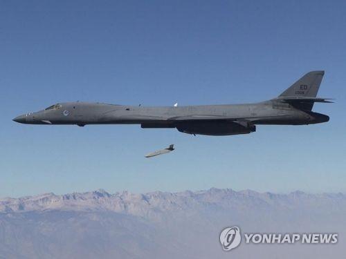 资料图片:B-1B战略轰炸机(韩联社/Wikimedia提供)