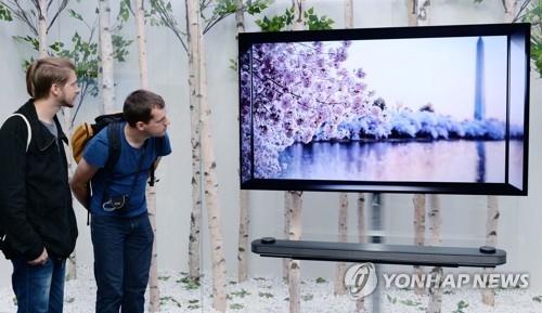 资料图片:图为LG电子的OLED TV (韩联社)