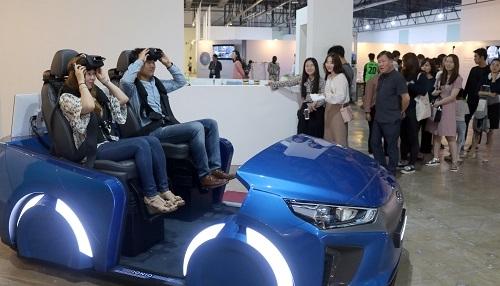 资料图片:自动驾驶体验区(光州设计双年展提供)