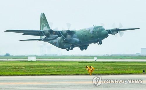 图为C-130运输机。(韩联社)