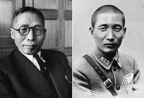 资料图片:金九先生(左)和张治中将军(韩中100年友人评委会提供)